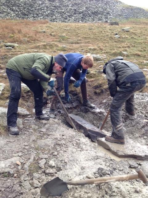 Building a drain near Goats Water