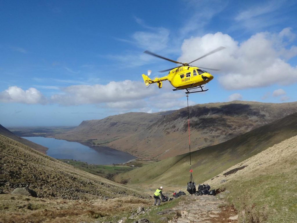 Yellow heli-lift pic