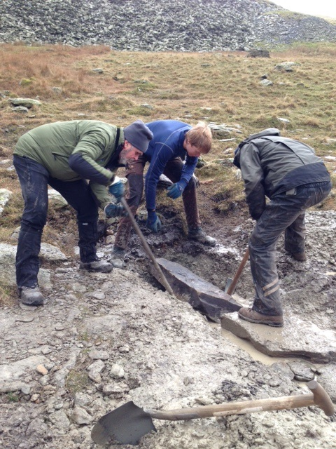 Building a drain near Goats Water